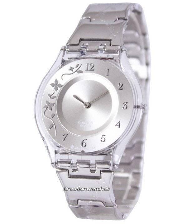 91828b83ad8 Relógio Swatch alpinista clássico florido quartzo suíço SFK300G feminino