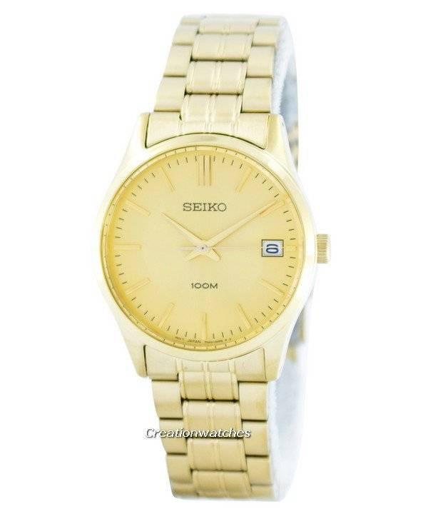 45f8e9fc030 Relógio Seiko quartzo analógico goldtone SGEF04 SGEF04P1 SGEF04P masculino