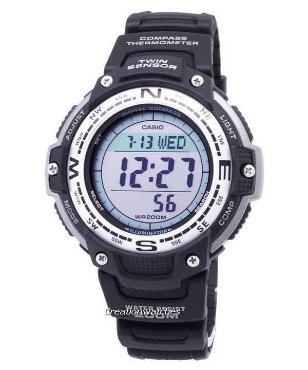 Σπορ ρολόι Casio Protrek πυξίδα θερμόμετρο σύρματα-100-1VDF SGW100  σύρματα-100- 9ee4ba0b9c5
