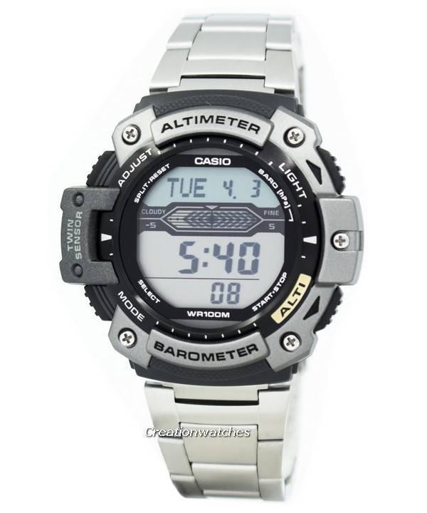 Casio σπορ υψομετρητής θερμόμετρο ρολόι 1AVDR-300HD-σύρματα SGW-300HD-1  SGW300HD 1ea0b287dbc