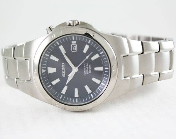 Seiko Kinetic Titanium SKA415P1 SKA415P SKA415 Mens Watch - Click Image to Close