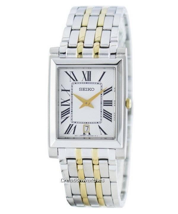 4604344c4f1 Relógio Seiko elegante retangular quartzo analógico SKP359 SKP359P1 SKP359P  masculino