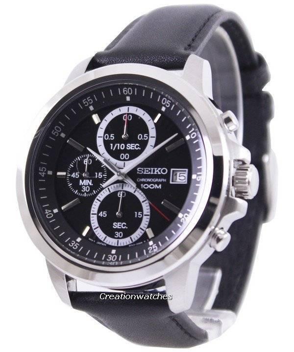 3b4fe169780 Relógio Seiko Chronograph 100m mostrador preto SKS445P2 masculino pt