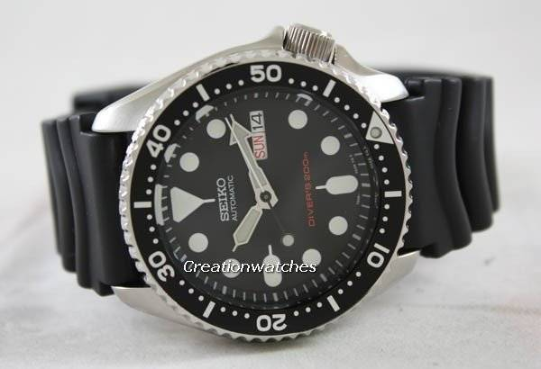 Seiko Automatic Diver SKX007 SKX007K1 SKX007K Rubber Band Men s Watch f68e10ada8b9