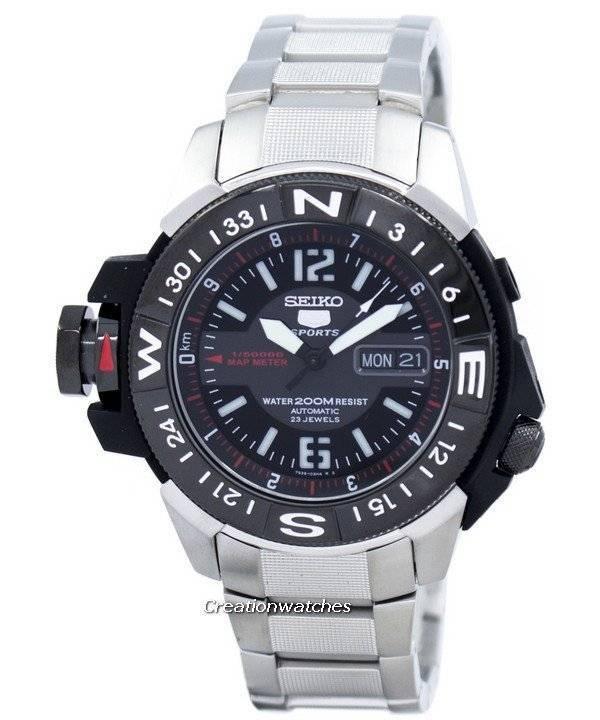 0fba4d751728 Seiko 5 200m automático Map Meter SKZ229 SKZ229K1 SKZ229K reloj para hombre