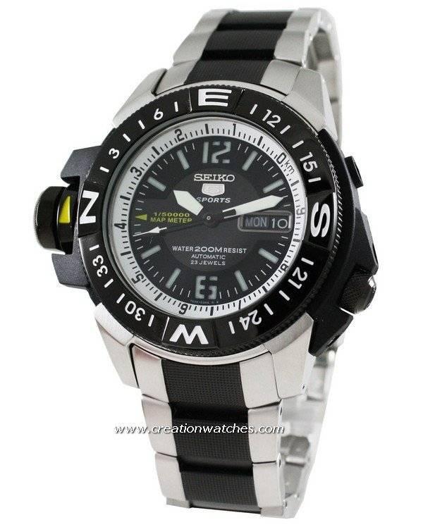 854f0937e4ec Seiko 5 Sports Automatic Map Meter SKZ319K1 SKZ319 SKZ319K Reloj para hombre