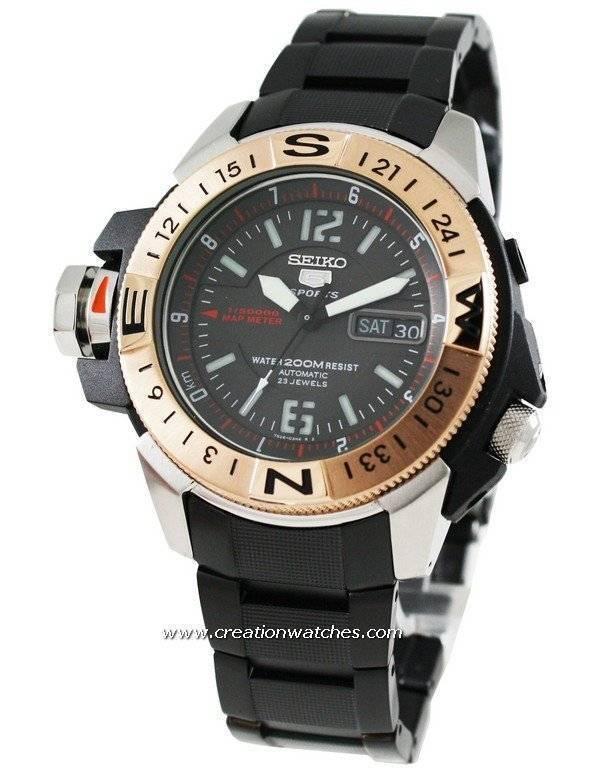 226399509c31 reloj Seiko 5 Sports automático mapa metro SKZ320K1 SKZ320 SKZ320K hombres