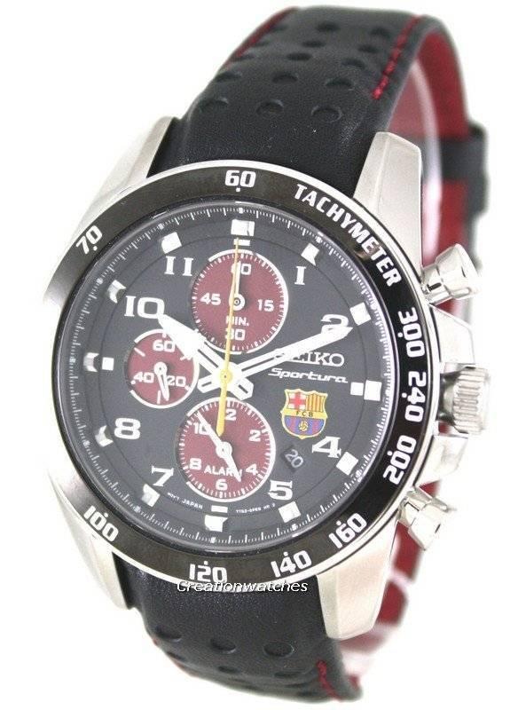 Seiko Sportura Cronógrafo FC Barcelona SNAE75P1 SNAE75P hombres reloj es 9210167a01f