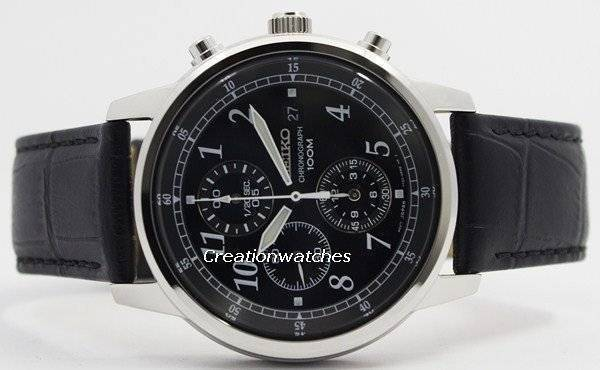 Seiko Chronograph SNDC33 SNDC33P1 SNDC33P Men's Watch - Click Image to Close