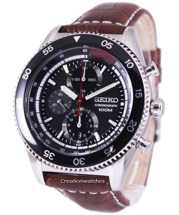 Seiko Chronograph Tachymeter 100M SNDG57P2 Men s Watch ea1da5f246de