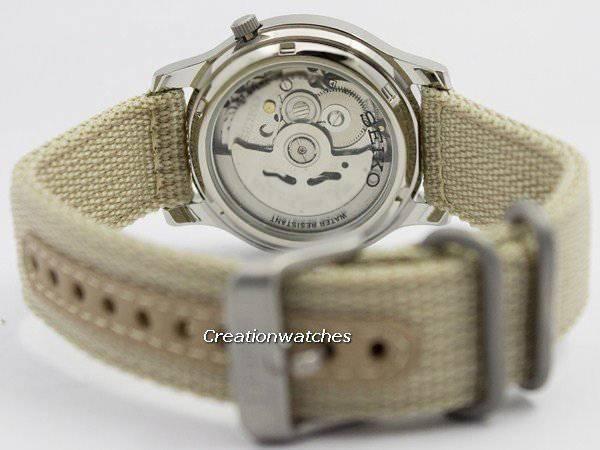 Seiko 5 Military Automatic Nylon Strap SNK803K2 Men's Watch - Click Image to Close