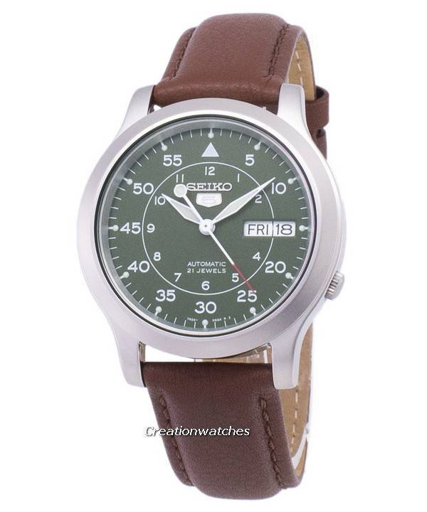 c6987f46c Seiko 5 Military SNK805K2-SS5 Automatic Brown Leather Strap Men's Watch