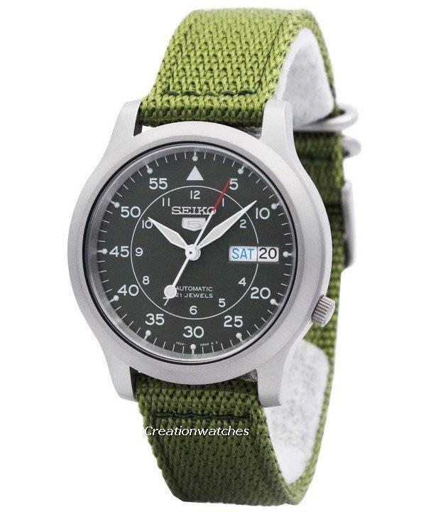 seiko 5 military automatic nylon snk805k2 men s watch