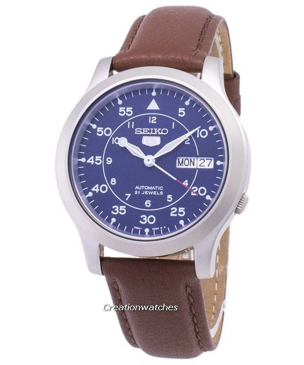 570a60019 Seiko 5 Military SNK807K2-SS5 Automatic Brown Leather Strap Men's Watch