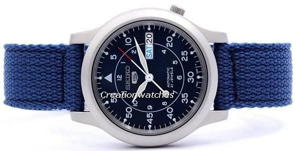 seiko 5 military automatic nylon strap snk807k2 men s watch