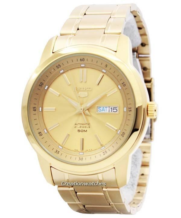 57eac9844b48 Reloj de hombre Seiko 5 automático 21 joyas SNKM94 SNKM94K1 SNKM94K