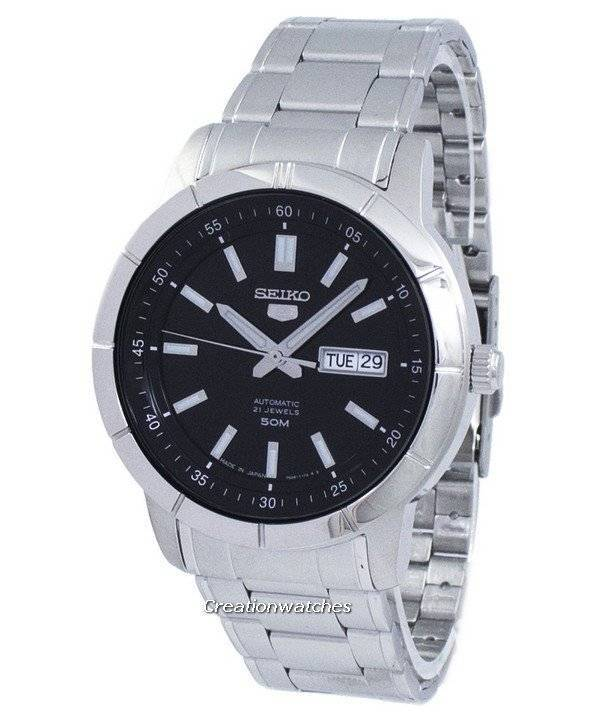 rivenditore all'ingrosso fdbd4 37977 Seiko 5 automatico Giappone fatto SNKN55 SNKN55J1 SNKN55J orologio uomo