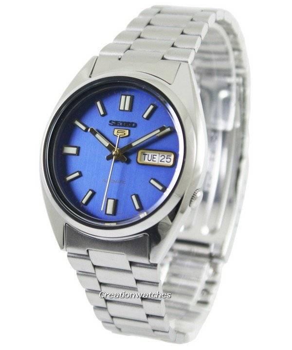 e7413fff2e9 Relógio Seiko 5 automático Dial azul SNX799K1 SNX799K masculino pt