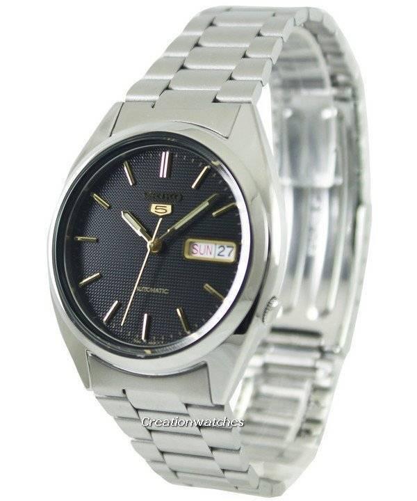 6c1118391 Seiko 5 Automatic Black Dial SNXG53K1 SNXG53K Men's Watch
