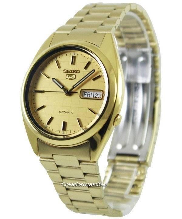 fafd97bbbe86 Seiko 5 Automatic Gold Dial SNXL72K1 SNXL72K Reloj para hombre