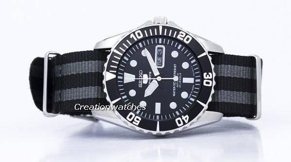Seiko 5 Sports Automatic 23 Jewels NATO Strap SNZF17J1-NATO1 Men's Watch - Click Image to Close