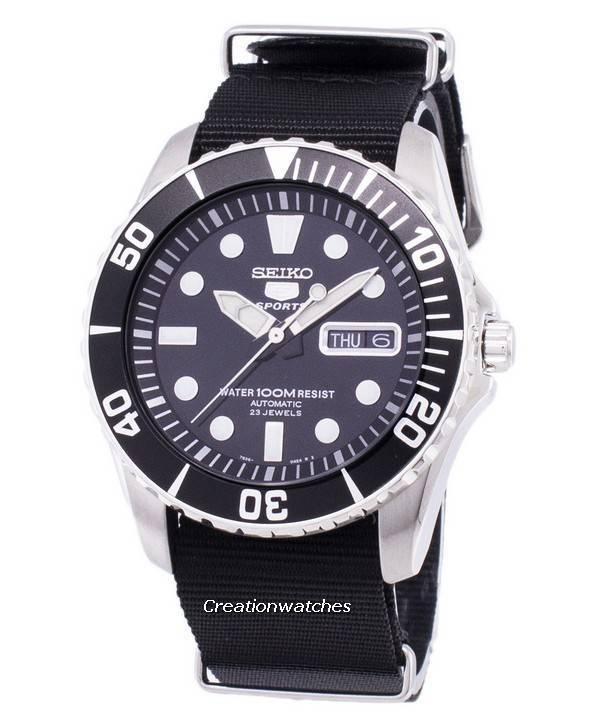 ef2242dd3 Reloj Seiko 5 Sports automático OTAN Strap SNZF17K1-NATO4 para hombre
