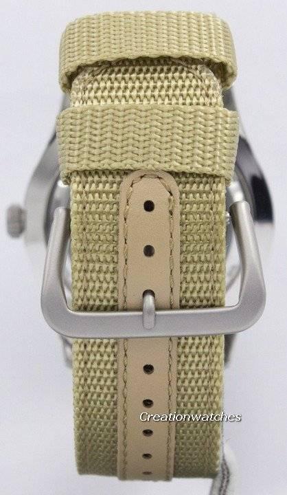 3e09daa3095 Seiko 5 Sports automático militar SNZG07J1 SNZG07J SNZG07 homens Japão  relógio Made