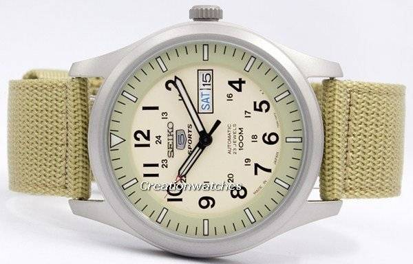 Snzg07 Seiko Automatic Japan 5 Snzg07j1 Montre Sports Made Snzg07j Military BoCderx