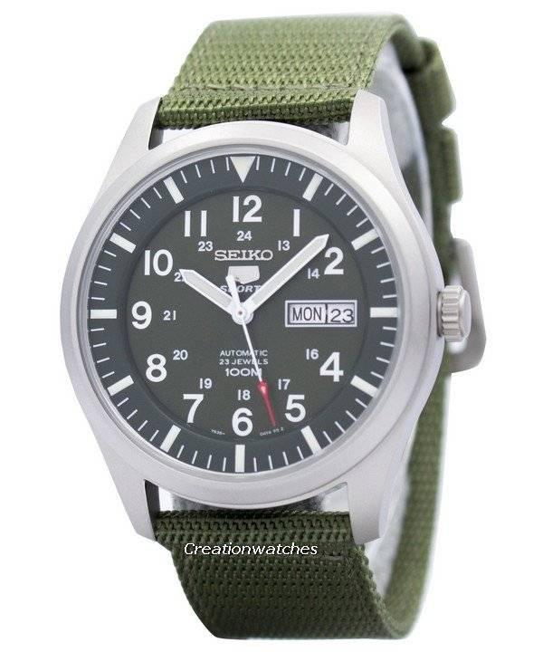 5b7ebda923b Relógio Seiko 5 Sports automático militar SNZG09K1 SNZG09 SNZG09K masculino