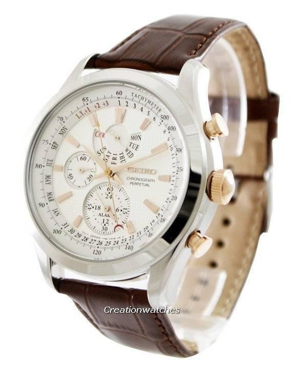 Seiko Chronograph Perpetual SPC129 SPC129P1 SPC129P Men s Watch 73618825257a