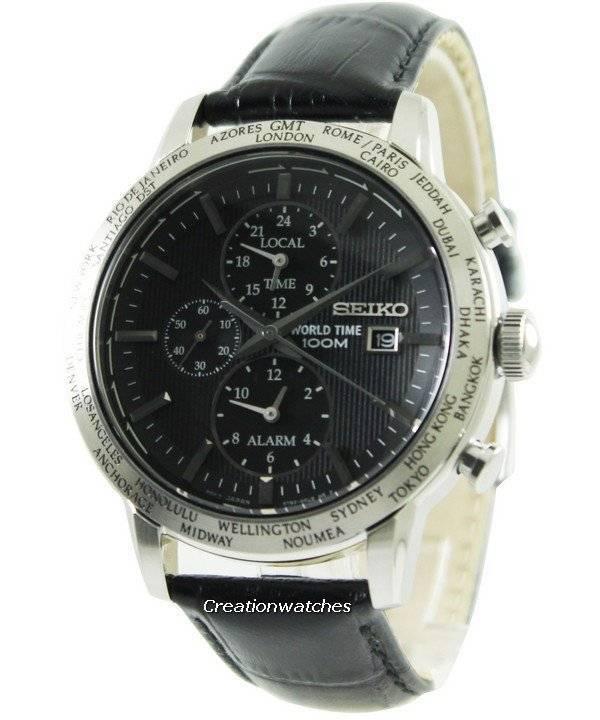 03b8e5c374d Relógio Seiko Alarm Chronograph mundo tempo SPL049P2 masculino pt