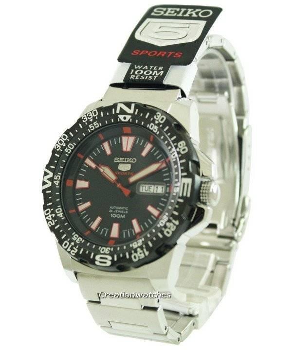 6d7c525241aa Seiko 5 Sports Automatic 24 Jewels SRP541 SRP541K1 SRP541K Reloj para hombre