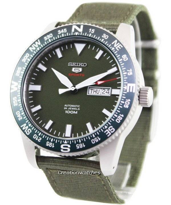 0a20394419c2 Seiko 5 Sports Automatic 24 Jewels 100M SRP663 SRP663K1 SRP663K Reloj para  hombre