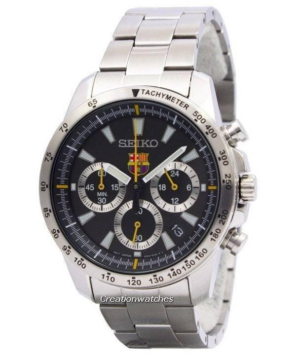 Seiko Quartz Chronograph FC Barcelona SSB073 SSB073P1 SSB073P Men s Watch 1497567b66