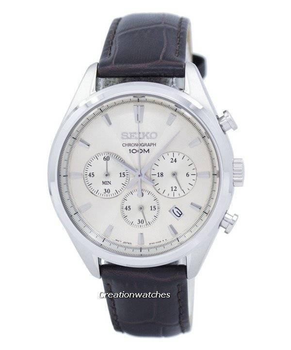 de2abf4d862 Relógio Seiko clássico Cronógrafo Quartz SSB293 SSB293P1 SSB293P dos homens