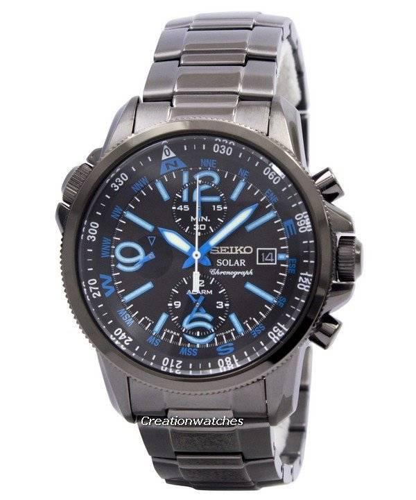 b21fc5d570e Seiko Solar Alarm Chronograph SSC079 SSC079P1 SSC079P Men s Watch