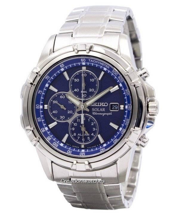 adcddfed0dd25 Seiko Solar Chronograph Alarm SSC141 SSC141P1 SSC141P Men s Watch