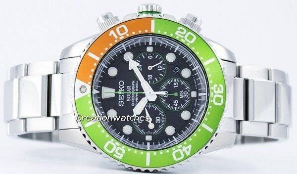 Seiko Solar Chronograph Diver S 200m Ssc237 Ssc237p1 Ssc237p Men S Watch