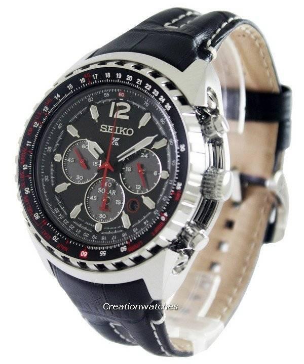 c6b975027 Seiko Prospex Aviation Solar Pilots SSC261P2 Men's Watch