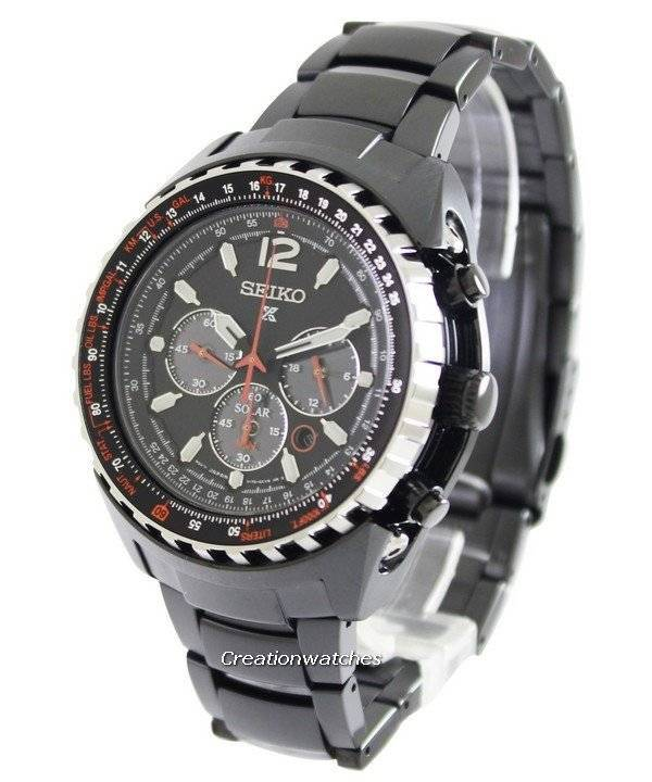 Seiko Prospex Aviation Solar Pilots SSC263 SSC263P1 SSC263P Men's Watch - Click Image to Close