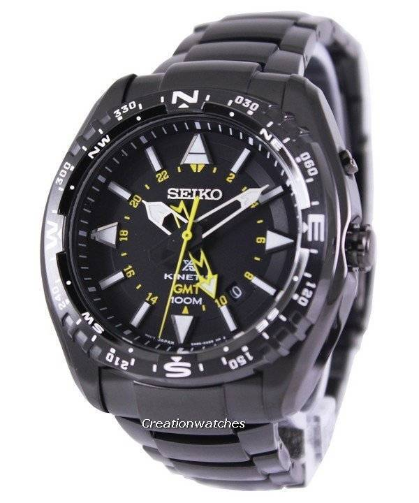 Seiko Prospex Land Kinetic GMT 100M SUN047 SUN047P1 SUN047P Men s Watch 90e4a2a79