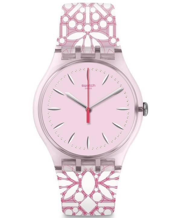 177913fd3f0 Relógio Swatch originais Fleurie analógico Quartz SUOP109 feminino pt