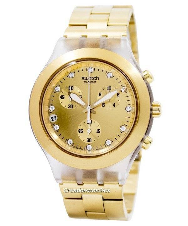 fe7624bb9c Montre unisexe Swatch Irony Diaphane pur-sang chronographe SVCK4032G fr