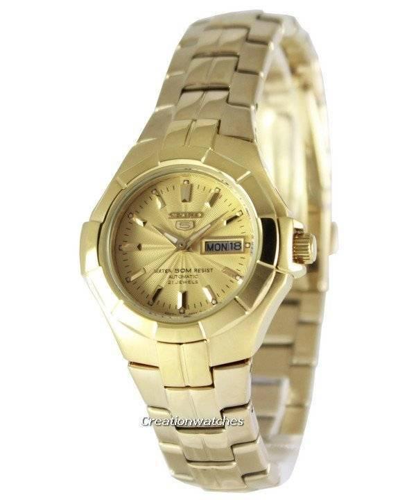 0f02a652c30 Relógio Seiko 5 automático 21 jóias SYMG88K1 SYMG88K feminino pt