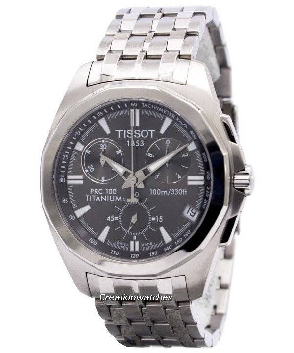 dd7d9059cdc Relógio Tissot PRC 100 Titanium Chronograph T008.417.44.061.00  T0084174406100 masculino