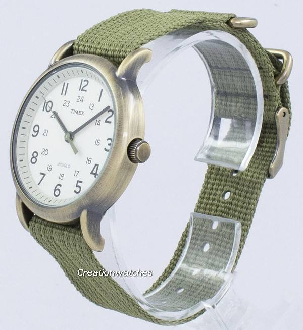 Timex Weekender Indiglo Quartz T2N894 Unisex Watch - Click Image to Close