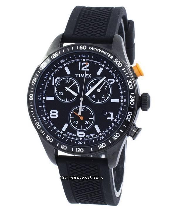 Chronograph T2p043 Herrenuhr Timex Quarz Indiglo sdhxtCBoQr