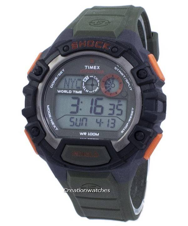 a6530e733370 Reloj Timex Expedition Shock World Time Indiglo Digital T49972 para hombre