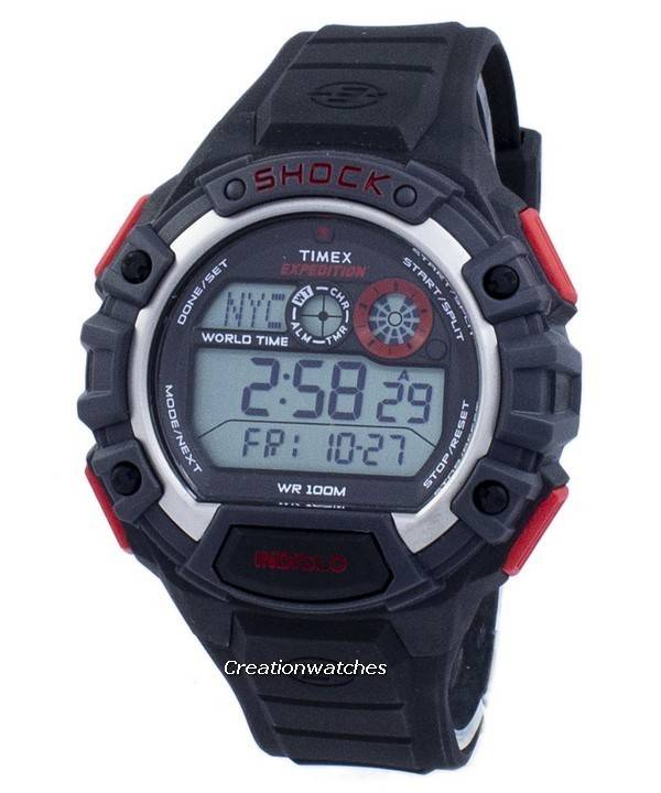 0efc33929dfe Timex Expedition Global Shock World Time Alarm Indiglo Digital T49973 Reloj  para hombre