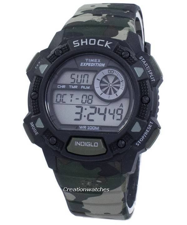 626598b27cfd Timex Expedition Base Shock Alarm Indiglo Digital T49976 Reloj para hombre